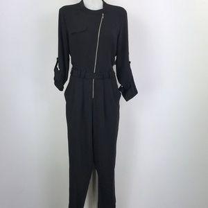 Rachel Roy Black Long Sleeve Jumpsuit Size Large